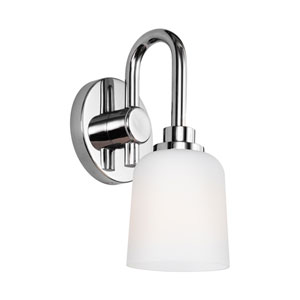 Reiser Chrome One-Light Wall Bath Fixture
