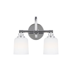 Reiser Chrome Two-Light Wall Bath Fixture