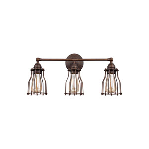 Calgary Parisian Bronze Three-Light Wall Bath Fixture