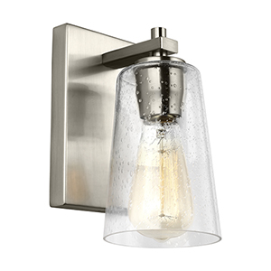 Mercer Satin Nickel One-Light Wall Sconce