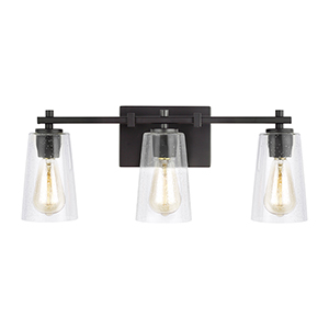 Mercer Oil Rubbed Bronze Three-Light Vanity