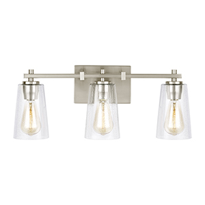 Mercer Satin Nickel Three-Light Vanity