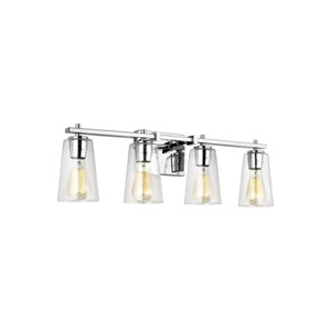 Mercer Chrome 29-Inch Four-Light Bath Light