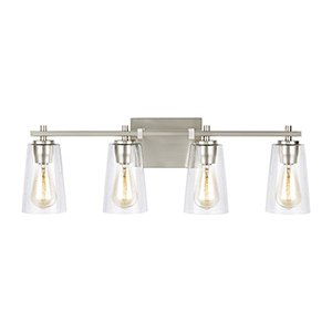 Mercer Satin Nickel Four-Light Vanity