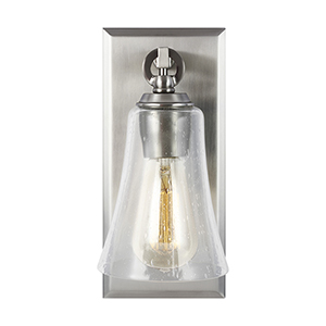 Monterro Satin Nickel One-Light Wall Sconce