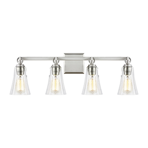 Monterro Satin Nickel Four-Light Vanity