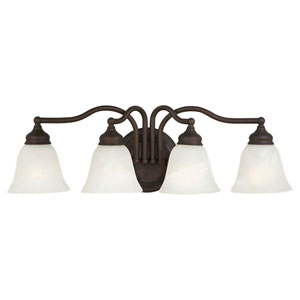 Bristol Oil Rubbed Bronze Four-Light Bath Fixture
