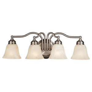Bristol Pewter Four-Light  Bath Fixture