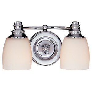 Bentley Chrome Two-Light Bath Fixture