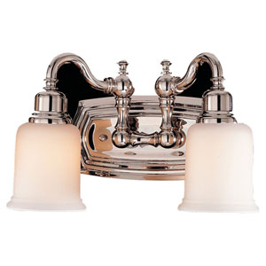 Canterbury Nickel Two-Light Bath Fixture