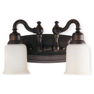 Canterbury Bronze Two-Light Bath Fixture