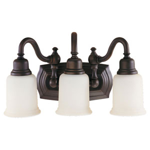 Canterbury Bronze Three-Light Bath Fixture