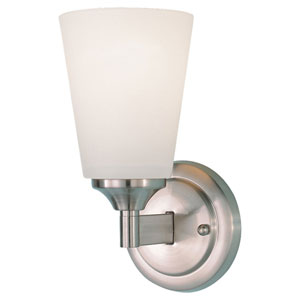 Paris Moderne Brushed Steel Sconce