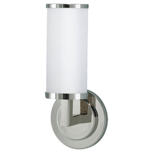 Industrial Revolution Polished Nickel One-Light Wall Sconce