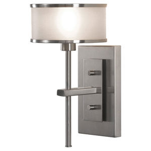 Casual Luxury Brushed Steel One-Light Sconce