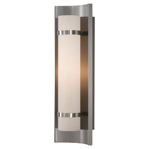 Colin Brushed Steel One-Light Sconce