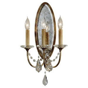 Valentina Oxidized Bronze Three-Light Sconce