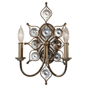 Leila Burnished Silver Two-Light Wall Sconce
