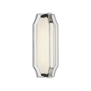 Audrie Polished Nickel One-Light LED Wall Sconce