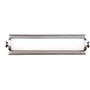 Edgebrook Satin Nickel One-Light 18-Inch Wide LED Bath Fixture