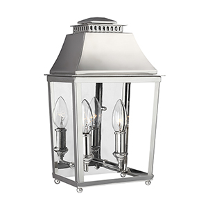 Galloway Polished Nickel Two-Light Bath Fixture