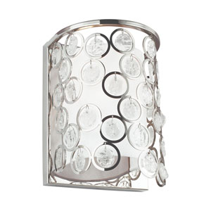 Lexi Polished Nickel One-Light Wall Sconce