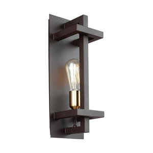 Finnegan New World Bronze One-Light Wall Bath Fixture