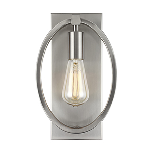Marlena Satin Nickel One-Light Wall Sconce