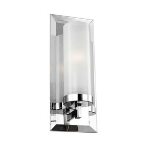Pippin Chrome One-Light Wall Bath Fixture