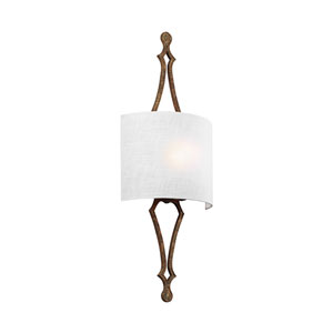 Tilling Distressed Gold Leaf One-Light Wall Bath Fixture