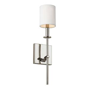 Hewitt Polished Nickel 5-Inch One-Light Bath Light