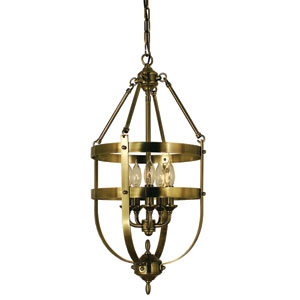 Hannover Antique Brass 13-Inch Five-Light Pendant