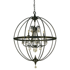 Compass Mahogany Bronze 40-Inch Nine-Light Pendant