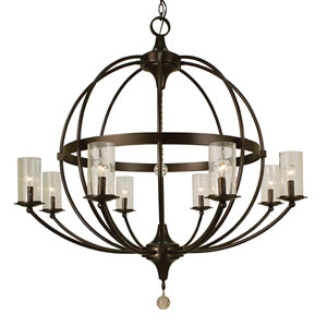 Compass Mahogany Bronze 40-Inch Eight-Light Chandelier
