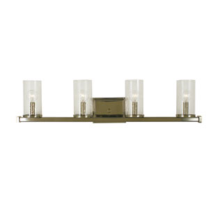 Compass Polished Nickel 30-Inch Four-Light Bath Vanity
