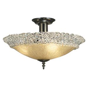 Brocatto Mahogany Bronze 19-Inch Three-Light Semi-Flush Mount