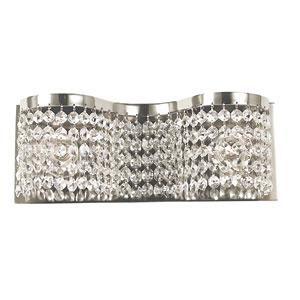 Princessa Polished Silver 13-Inch Two-Light Bath Vanity