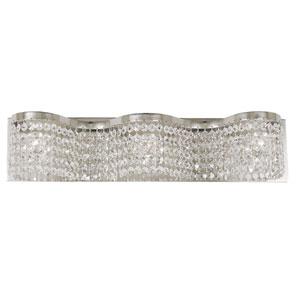 Princessa Polished Silver 22-Inch Three-Light Bath Vanity