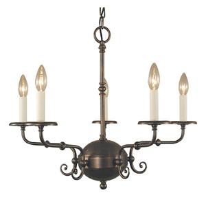 Jamestown Siena Bronze 26-Inch Five-Light Chandelier