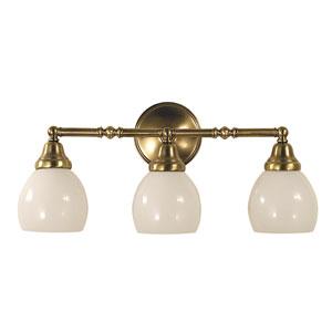 Sheraton Antique Brass 21-Inch Three-Light Bath Vanity