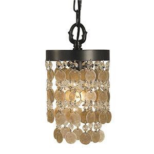Naomi Mahogany Bronze 6-Inch One-Light Mini Pendant