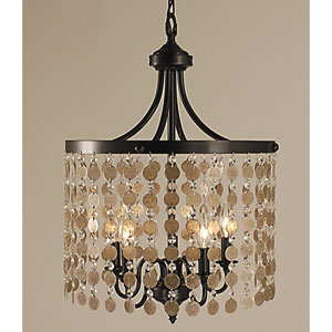 Naomi Mahogany Bronze 17-Inch Five-Light Pendant