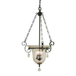Carcassonne Mahogany Bronze 18-Inch Three-Light Pendant