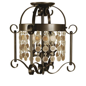 Naomi Mahogany Bronze 15-Inch Four-Light Semi-Flush Mount
