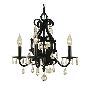 Liebestraum Matte Black 16-Inch Four-Light Chandelier