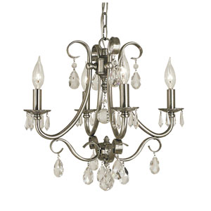 Liebestraum Brushed Nickel 17-Inch Four-Light Chandelier