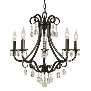 Liebestraum Mahogany Bronze 23-Inch Five-Light Chandelier
