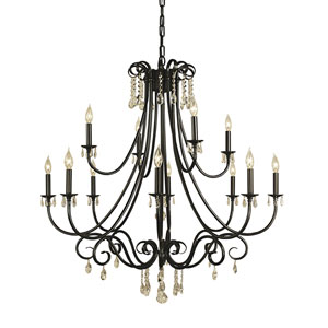 Liebestraum Mahogany Bronze 42-Inch Twelve-Light Chandelier