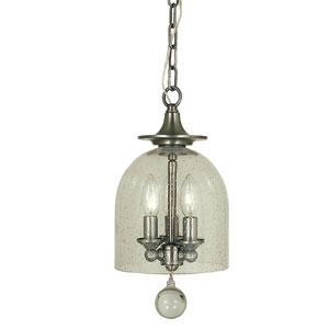 Hannover Brushed Nickel 7-Inch Three-Light Mini Pendant