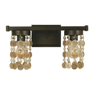 Naomi Mahogany Bronze 15-Inch Two-Light Bath Vanity